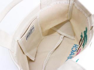 フララニ(Hula Lani)キャンバス トートバッグ サガラ刺繍フラミンゴパームツリー