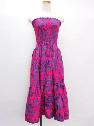Lahaina ティアードドレス ピンクパープル