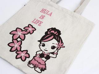 フラレフア(Hula Lehua)コットンエコバッグ プルメリアちゃん