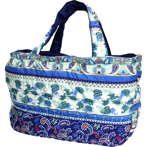 フララニ(Hula Lani)Lサイズトートバッグ ホヌペイズリー ブルー