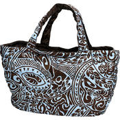 フララニ(Hula Lani)Lサイズトートバッグ タパ ブラウン