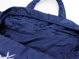 フララニ(Hula Lani)Lサイズトートバッグ パインフルーツボーダー ネイビー