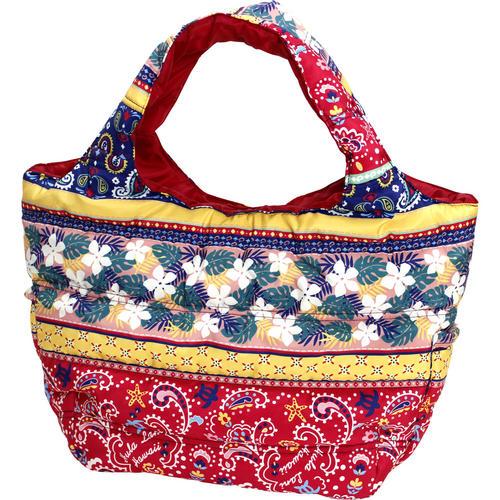 フララニ(Hula Lani)Mサイズトートバッグ ホヌペイズリー レッド