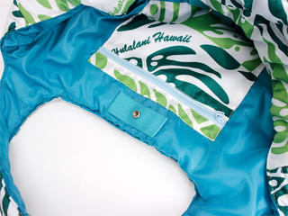フララニ(Hula Lani)Mサイズトートバッグ モンステラリバース グリーン