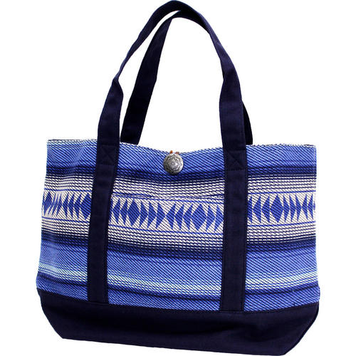 フララニ(Hula Lani)Antibal裏毛トートバッグ ネイティブボーダー ネイビー