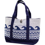 フララニ(Hula Lani)Antibal裏毛トートバッグ ネイティブウェーブ ホワイト