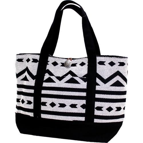 フララニ(Hula Lani)Antibal裏毛トートバッグ ネイティブトライバル ブラック