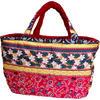 フララニ(Hula Lani)Lサイズトートバッグ ホヌペイズリー レッド