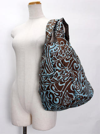 フララニ(Hula Lani)Mサイズトートバッグ タパ ブラウン