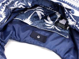 フララニ(Hula Lani)Mサイズトートバッグ パームツリーウェーブ ネイビー