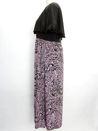 Lahaina ショール風フリルワンピース タパ ピンク