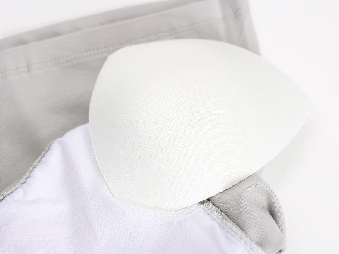 フラタヒチアン ブラカップ付きチューブトップ ライトグレー 大きめL&XLサイズ