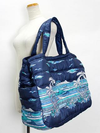 フララニ(Hula Lani)Lサイズトートバッグ サンセットビーチ ネイビー