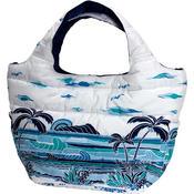 フララニ(Hula Lani)Mサイズトートバッグ サンセットビーチ ホワイト