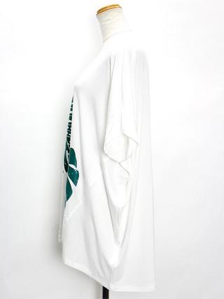PUKANA ドルマンTシャツ モンステラホワイト