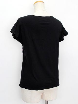 PUKANA ノースリーブストレッチTシャツ レフアブラック