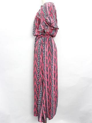 Lahaina ショートスリーブブラウジングドレス ピンク