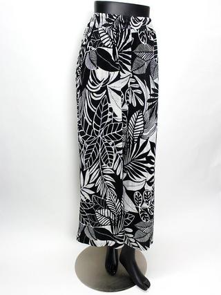 Lahaina ガウチョフレアパンツ ハワイアンリーフブラック