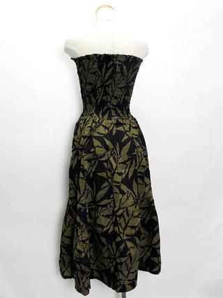 Lahaina ティアードドレス ブラックブラウン