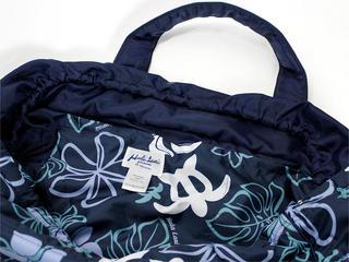 フララニ(Hula Lani)Lサイズトートバッグ ホヌモンステラ ネイビー