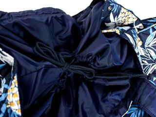 フララニ(Hula Lani)Lサイズトートバッグ ハワイアンパインリーフ ネイビー