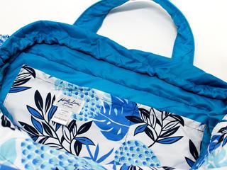 フララニ(Hula Lani)Lサイズトートバッグ ハワイアンパインリーフ ホワイト
