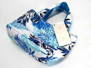 フララニ(Hula Lani)ミニミニトートバッグ ハワイアンパインリーフ ホワイト