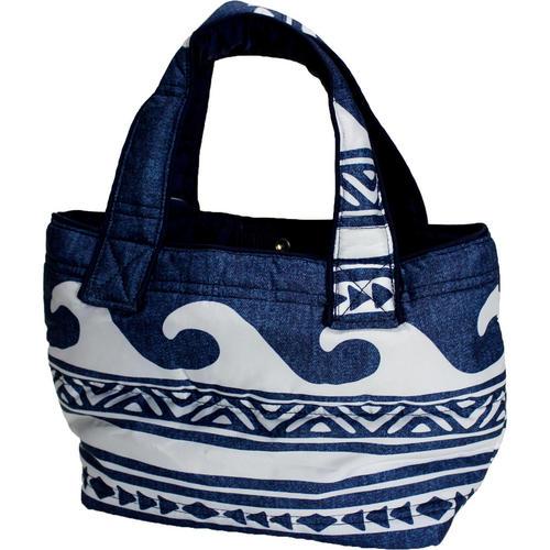 フララニ(Hula Lani)ミニミニトートバッグ ハワイアンウェーブ デニムネイビー