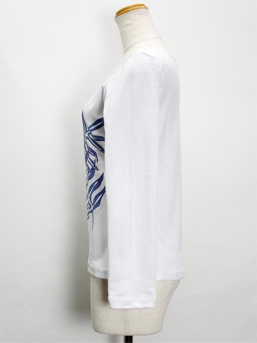 PUKANA ロングスリーブストレッチTシャツ ラウアエホワイト