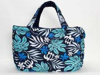 フララニ(Hula Lani)Lサイズトートバッグ ラウアエモンステラホヌ ブルー