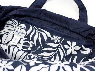 フララニ(Hula Lani)Lサイズトートバッグ ラウアエモンステラホヌ ネイビー
