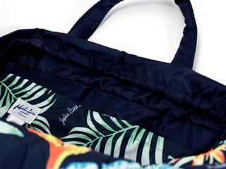 フララニ(Hula Lani)Lサイズトートバッグ バードオブパラダイス ネイビー