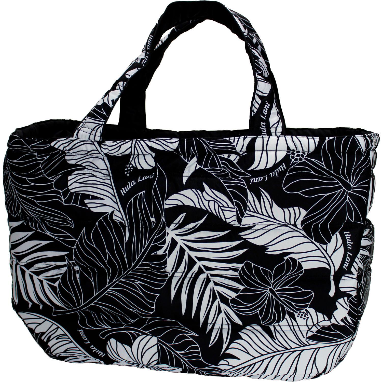 フララニ(Hula Lani)Lサイズトートバッグ ラウアエモンステラ ブラック