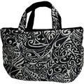 フララニ(Hula Lani)Lサイズトートバッグ タパリーフ ブラックベージュ
