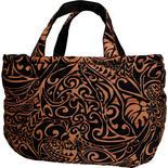 フララニ(Hula Lani)Lサイズトートバッグ タパリーフ ブラックブラウン