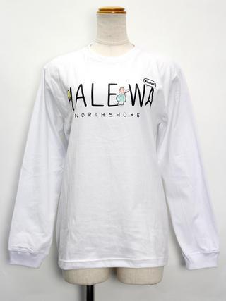 HALEIWA ロングスリーブTシャツ ハレイワロゴホワイト