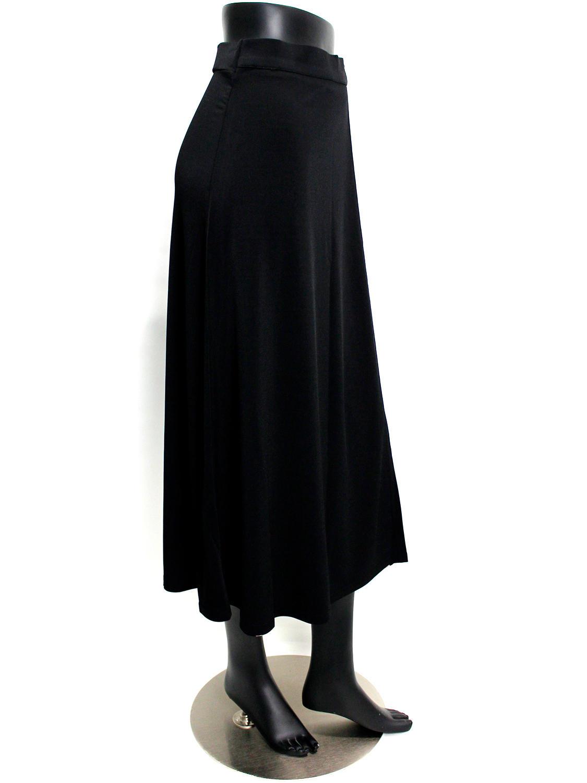 ラップ風切り替えスカート カヒコ ブラックブラウン