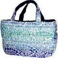 フララニ(Hula Lani)Lサイズトートバッグ タパホヌモンステラグラデーション ブルー