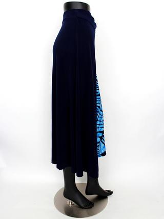 ラップ風切り替えスカート カヒコ ネイビーブルー