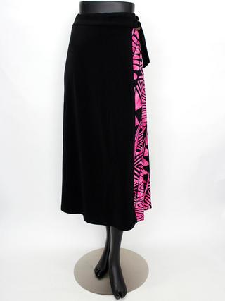 ラップ風切り替えスカート カヒコ ブラックピンク