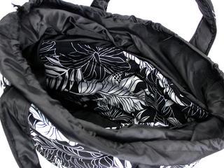 フララニ(Hula Lani)2wayトートバッグ ラウアエモンステラ ブラック