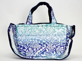 フララニ(Hula Lani)2wayトートバッグ タパホヌモンステラグラデーション ブルー