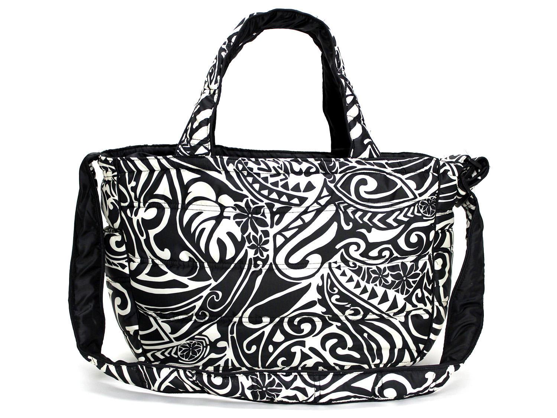 フララニ(Hula Lani)2wayトートバッグ タパリーフ ブラックベージュ