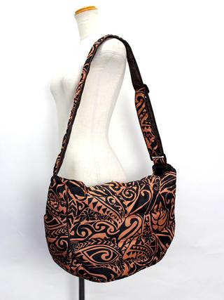 フララニ(Hula Lani)2wayトートバッグ タパリーフ ブラックブラウン