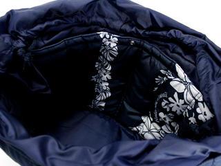 フララニ(Hula Lani)2wayトートバッグ モンステラプルメリアボーダー ネイビー