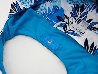 フララニ(Hula Lani)Mサイズトートバッグ ハワイアンパインリーフ ホワイト