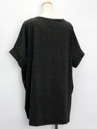 PUKANA ドルマンTシャツ ハワイアンリーフ チャコール