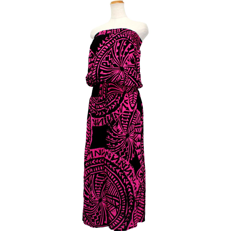 Lahaina ブラウジングドレスワンピース タパサークル ブラックピンク