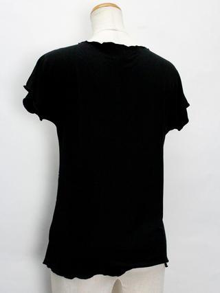 Lahaina ノースリーブストレッチTシャツ ビッグティアレ ブラック
