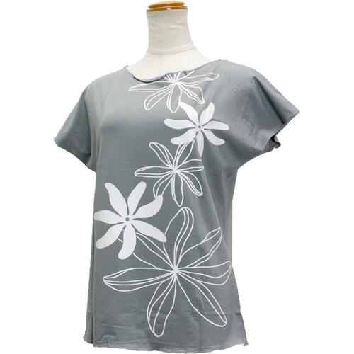 Lahaina ノースリーブストレッチTシャツ ビッグティアレ アッシュカーキグレー